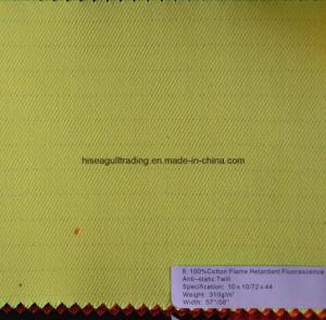 310G/M2 Yarn: 10sx10s Flame Retardant Cotton Twill Garment Fabric pictures & photos