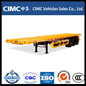 Cimc Tri-Axle 40′ Flatbed Semi Trailer / Container Trailer pictures & photos
