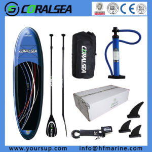 Racing PVC Inflatable Sup Surf Board with Paddle pictures & photos