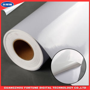 Car Wrapping 140gms Self Adhesive Vinyl for Eco Solvent Print pictures & photos