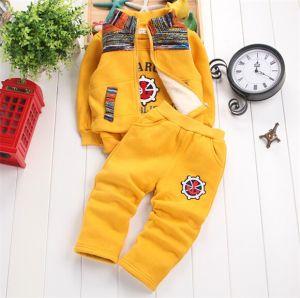 Ks1133 Good Quality Winter Fleece 100% Cotton Boy′s Clothing Set Kids Suit Clothes Set (Jacket+tshirt+pants) for Wholesale pictures & photos