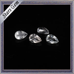 3X5mm Tear Drop Clear White Natural Topaz for Jewelry pictures & photos