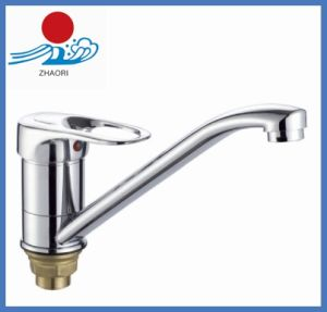 Single Handle Deck Mount Chrome Kitchen Sink Water Faucet (ZR22005-A) pictures & photos