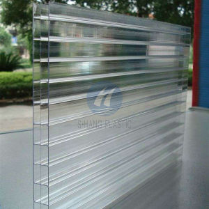 china transparent triple wall polycarbonate hollow sheet for