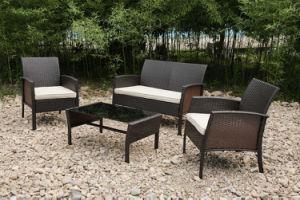 Modern Rattan Garden Outdoor Furniture Sectional Lounge Sofa Set (FS-2495+2496+2497) pictures & photos