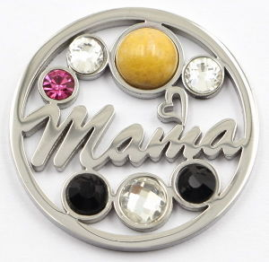 Silver Memory Mama Coin with Stones for Gift pictures & photos
