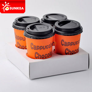 Printed Coffee Carrier 4 Cup Paper White pictures & photos