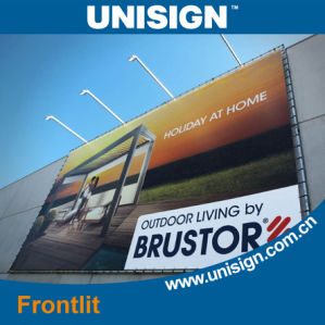 Unisign Super Smooth Hot Laminated Frontlit Advertising Banner pictures & photos