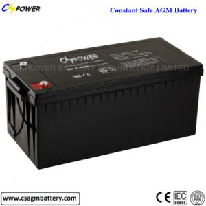 High Quality Deep Cycle AGM Battery 12V200ah for Solar UPS pictures & photos