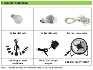 30wp Solar Home System with LED Light pictures & photos