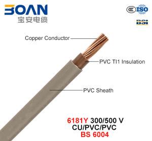 6181y, Electric Wire, 300/500 V, Flexible Cu/Lszh/Lszh (BS EN 50525-3-11) pictures & photos