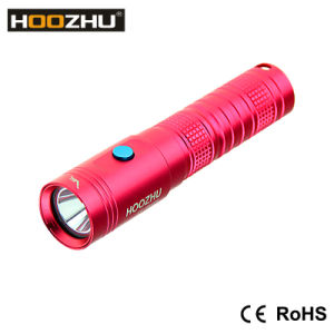 Hoozhu U10 Mini Diving Light Waterproof 100 Meters Diving Light Rechargeable Blue Black Red pictures & photos