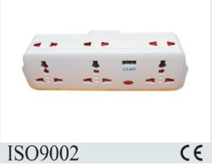 Factory British Standard Multi Socket Adaptor with USB Outlet pictures & photos