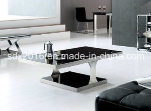 Living Room Furniture 10mm Tempered Glass on Top Coffee Table pictures & photos