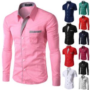 Mens Slim Fit Shirt Long Sleeve Dress Shirts (A447)