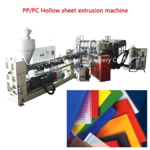 PP PC Polycarbonate Hollow Sheet Production Line pictures & photos