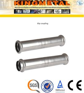 F304/316L Stainless Steel Press Fittings Slip Coupling pictures & photos
