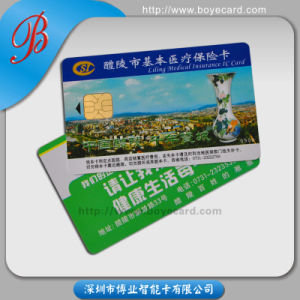 Safe, High Storage Capacity Contact IC Chip Card pictures & photos