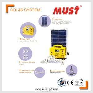 Must Mini Solar Power System Small Home Use 30W Light USB Included pictures & photos