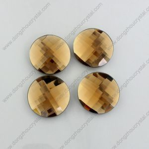 Dz-1041 Topaz Flat Back Round Glass Beads for Garment pictures & photos