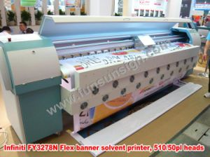 Infiniti Fy3278n 720dpi 10FT Outdoor Printing Solvent Printer (4 or 8 SPT 510/50pl heads, CMYK 4 colors, 157 sqm/hour) pictures & photos