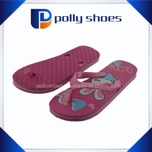Women Printed Flowers Rubber Flip Flops Wholesale (36-41) pictures & photos