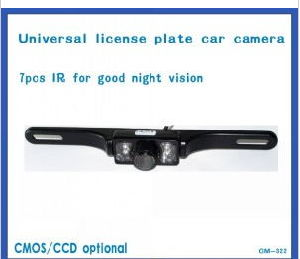 Waterproof IR Night Vision License Plate Rearview Car Camera