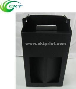 Popular Wine Bottle Box with Pms Black (CKT-CB-305) pictures & photos