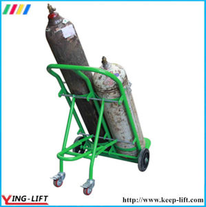 Four Wheels Steel Double Gas Cylinder Hand Delivery Truck pictures & photos