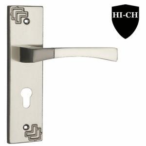 Zinc Alloy Level Door Handle with Plate