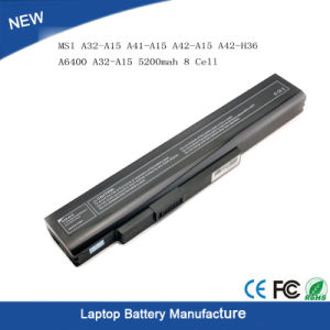 Laptop Battery for Msi A32-A15 A41-A15 A42-A15 A42-H36 A6400 A32-A15 pictures & photos