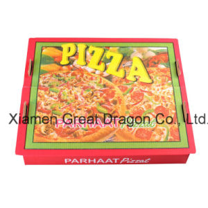 Locking Corners Pizza Box for Stability and Durability (PB160600) pictures & photos