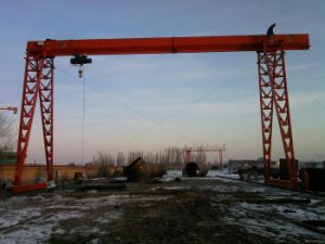 10ton Single Beam Electric Hoist Gantry Crane pictures & photos