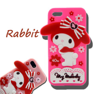 Animal Bow Melody Rabbit DOT Flowers Silicone Cell Phone Case for Huawei P8 P9 P8lite pictures & photos