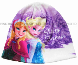 Frozenn Knitted Hat with Sublimation Transfer Printing