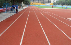 Solvent-Free Full Polyurethane Tracks Sport Surface pictures & photos