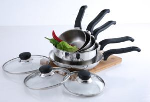 8PCS Stainless Steel Cookware Set (saucepan+frypan set) pictures & photos