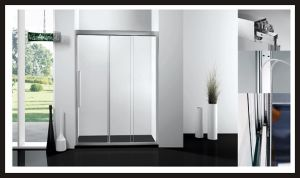 Three Tempered Glass Shower Enclosure Bathroom Door Screen Shower Room Shower Set pictures & photos