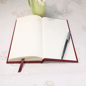 Notebook with PU Leather with a Silk Book Printing pictures & photos