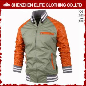 OEM Service Zipper Leather Varsity Jacket pictures & photos