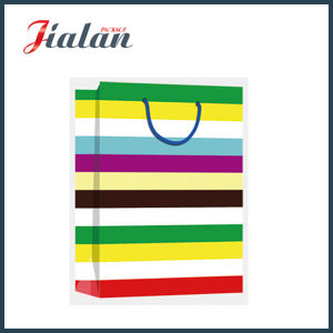Every Day Series 4c Stripes Printed Shopping Gift Paper Bag pictures & photos