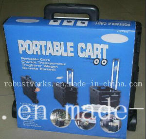 Folding Plastic Portable Shopping Cart (FC403K-3-1) pictures & photos