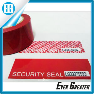 Red Bright Tamper Evident Security Seal Sticker Labels pictures & photos