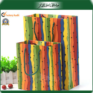 Eco Friendly Recycled Custom Print Paper Promotion Bag pictures & photos