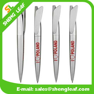 Plastic Promotion Ball Pen Stationery Click Ballpoint Pen (SLF-PP030) pictures & photos