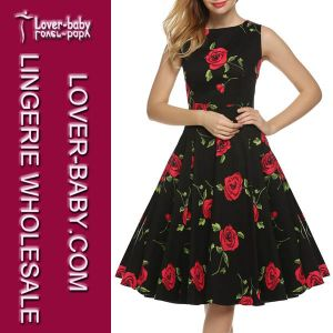 Woman Wholesale Garments Dress Casual Retro Stye (L36108-1) pictures & photos