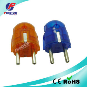 Colorful EU Round AC DC Power Plug pictures & photos