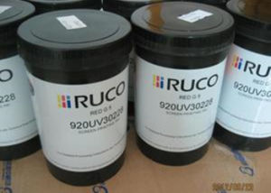 Screen Printing Consumables PE / Ruco / UV Screen Printing Ink RoHS Certificated pictures & photos