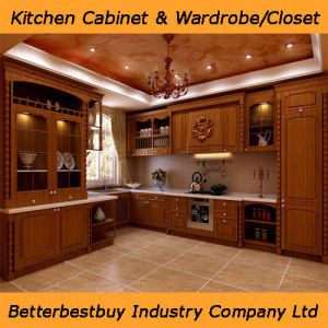 New Design Solid Wood Kitchen Cabinet pictures & photos