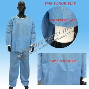 Hot! Polypropylene Disposable Scrub Suits, Hospital Uniform, Disposable Patient Uniform pictures & photos